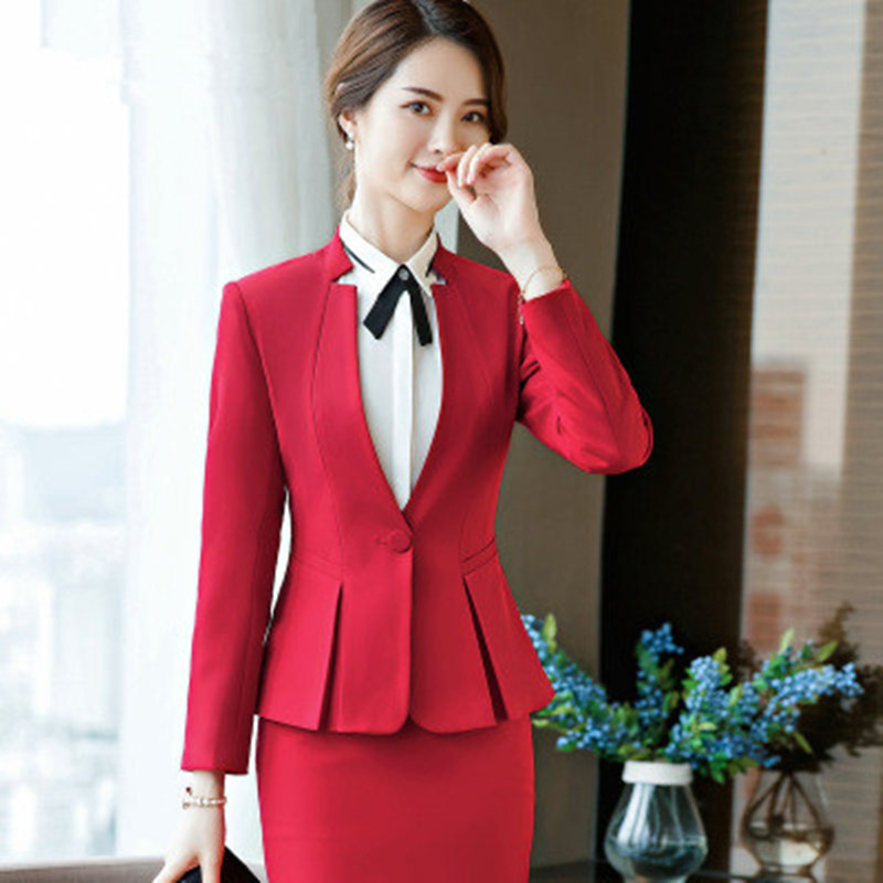 Hot Sale Black Pant Suits Formal Ladies Office Ol Uniform Designs