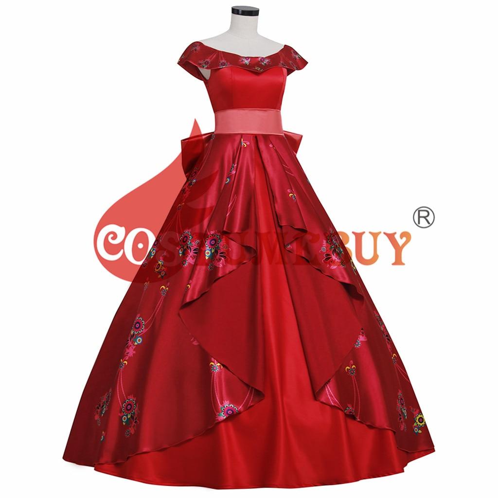 Costumebuy Elena of Avalor Princess Elena cosplay costume Red Ball Gown Women disfraz mujer Party Halloween Fancy dress
