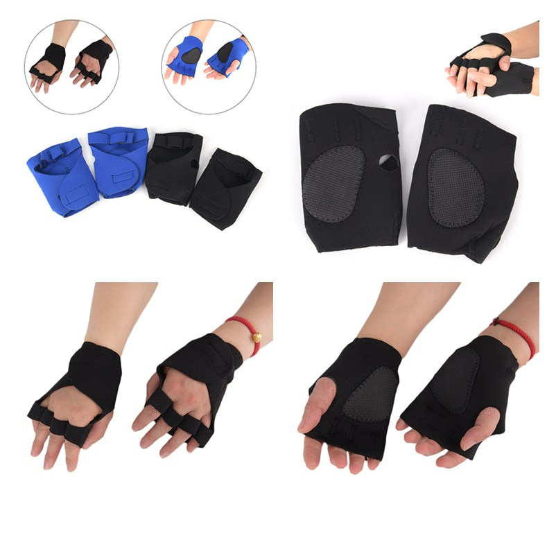 Useful 2pcs/pair Unisex Anti Skid Weight Lifting Training Gloves Dumbbell Grips Pads Gym Bench Press Fitness Sports Hand Palm Protector Fitness & Body Building Sports & Entertainment