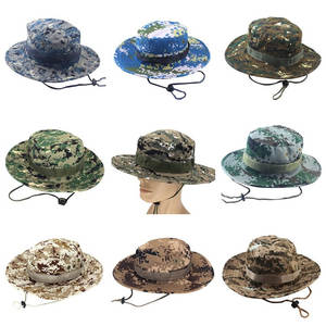 fbab6292287 Camouflage Outdoor Fishing Bucket Hat Boonie Cap Military
