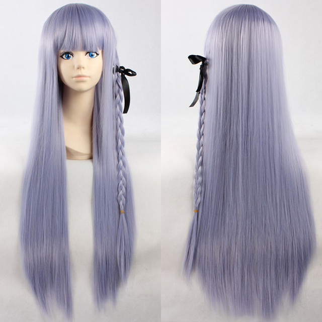 Japan Anime Danganronpa Dangan Ronpa Kyouko Kirigiri Cosplay Wig Light  Purple Long Synthetic Hair Women Costume