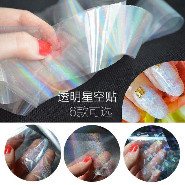cellophane colorato  40 cm colorful carta cellophane trasparente nail Stella sticker Star ...