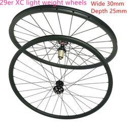 Światło wight 30mm szerokość 25mm głębokość XC 29er mtb koła z włókna węglowego górski 29er koła rowerowe w Koła roweru od Sport i rozrywka na