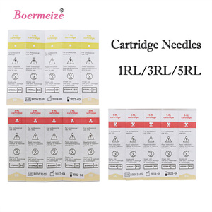 Image 2 - Tattoo Cartridge Needles 100pcs/Lot Mixed Sterilized Tattoo Machine Needle Permanent Makeup for Eyebrow lip 1R 3 5R 3 5RS 3 5 7F