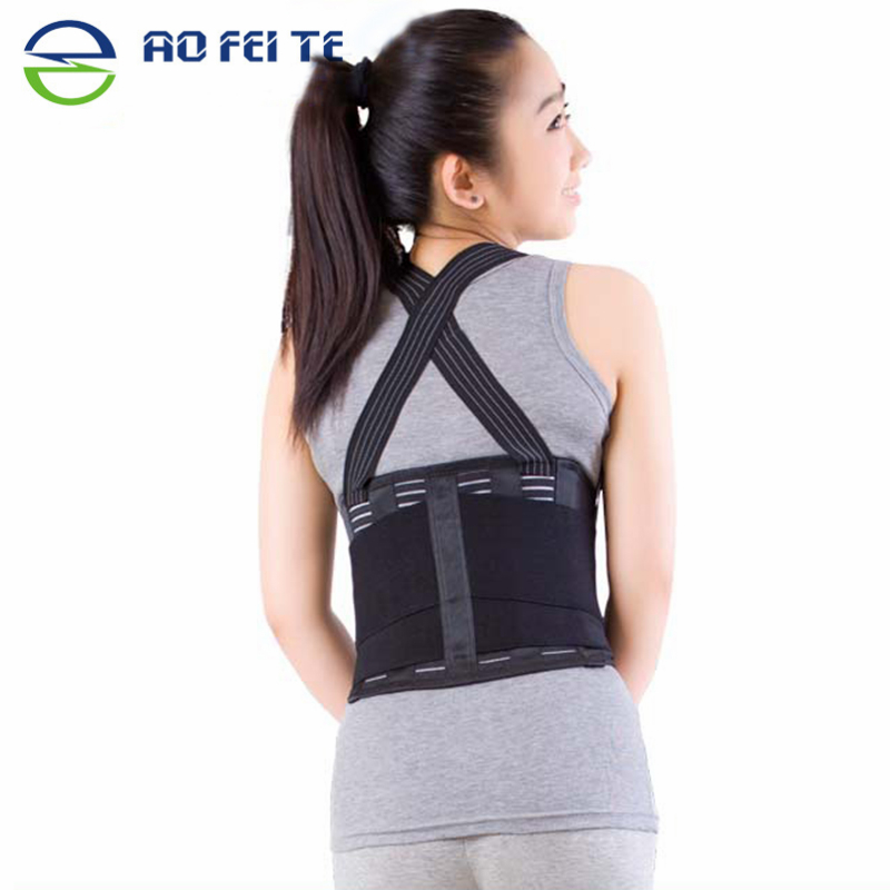 AO FEI TE Adjustable Lumbar Belt Work Back Support Belt Waist Widen Lumbar Support Brace Band Breathable Protection Sport Belts