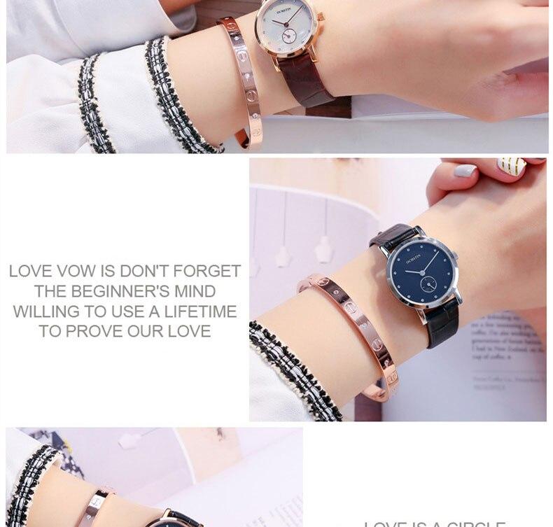 Homens Moda Quartzo Relógio de Senhoras Amantes
