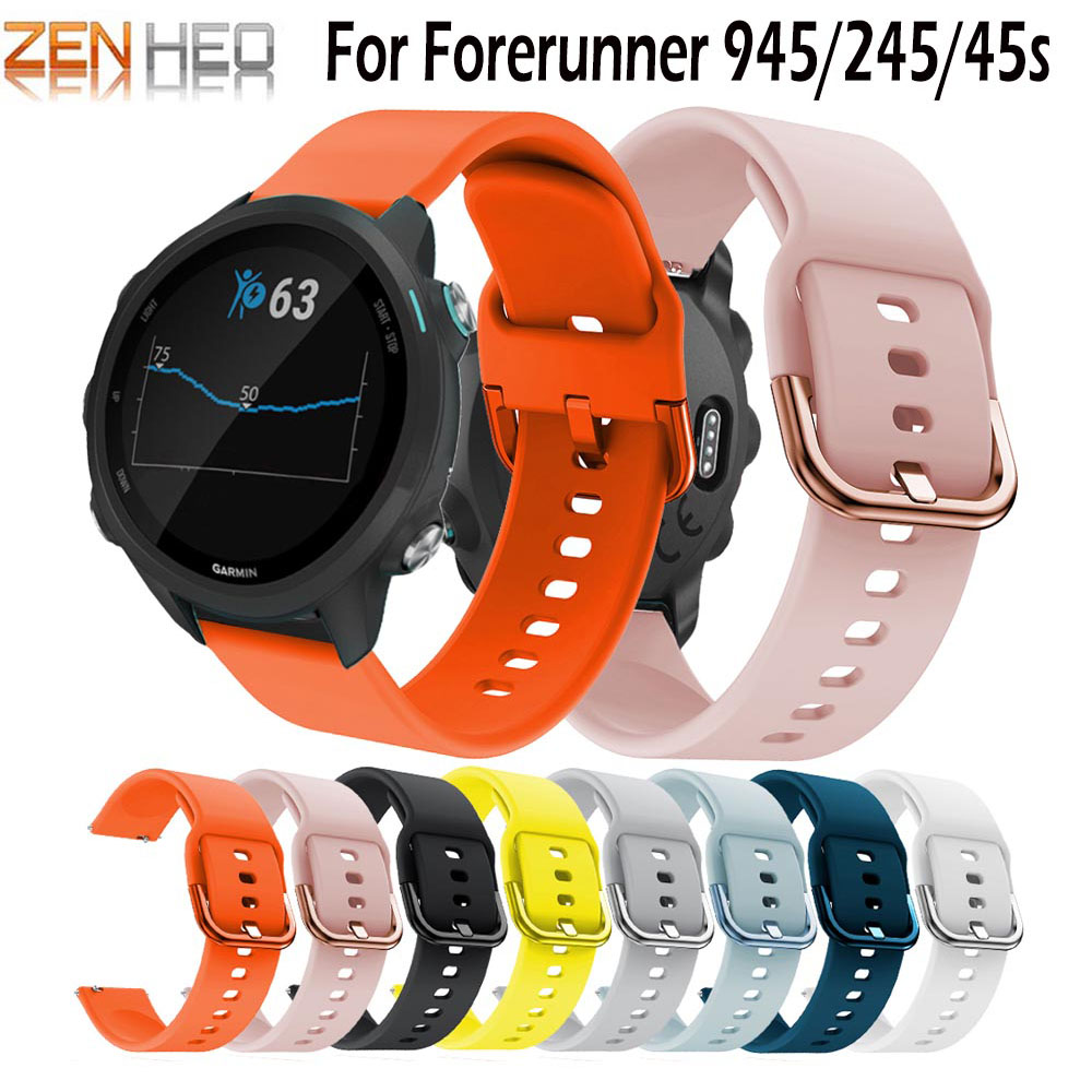 For Garmin Forerunner 245 Strap Silicone Watch Band Sports Strap For Forerunner 245M 245 Wrist Smart Watch Men women 39 s Bracelet in Smart Accessories from Consumer Electronics