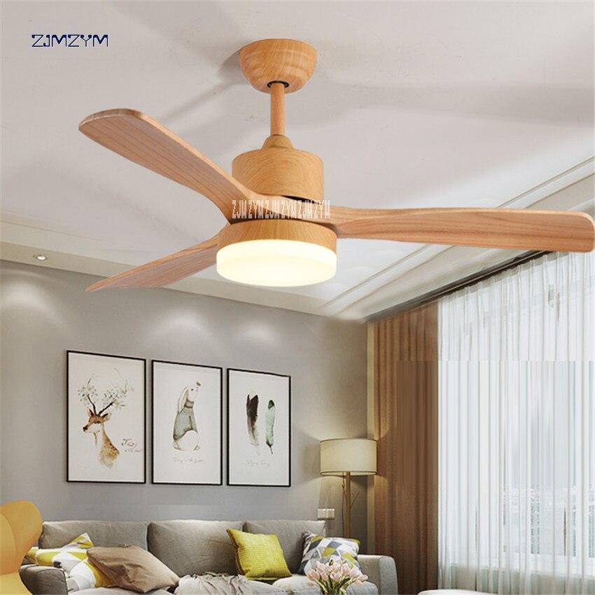 48 дюймов скандинавский деревянный Потолочная люстра с вентилятором с пультом дистанционного управления 220 вольт спальня потолочный светильник вентилятор светодиодные лампы 42SW 1012 деревянный цвет