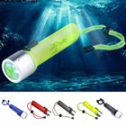 ✔  3500LM LED Подводный АА Батарея 5 Цветов 1 шт. Фонарик 50 М Фонарик Скуба-Дайвинг с Ручной Наручный  ①