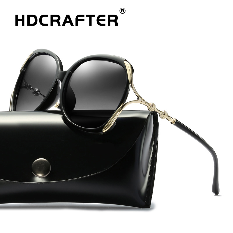 2019 Fashion Sunglasses Polarized Women Vintage Brand Design Luxury Sun Glasses For Women Big Frame Butterfly Eyewear UV400