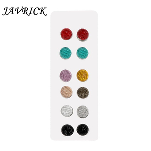Image 1 - JAVRICK 12 Pairs Muslim Multi Use Rhinestone Magnetic Scarf Brooches Round Hijab Pins