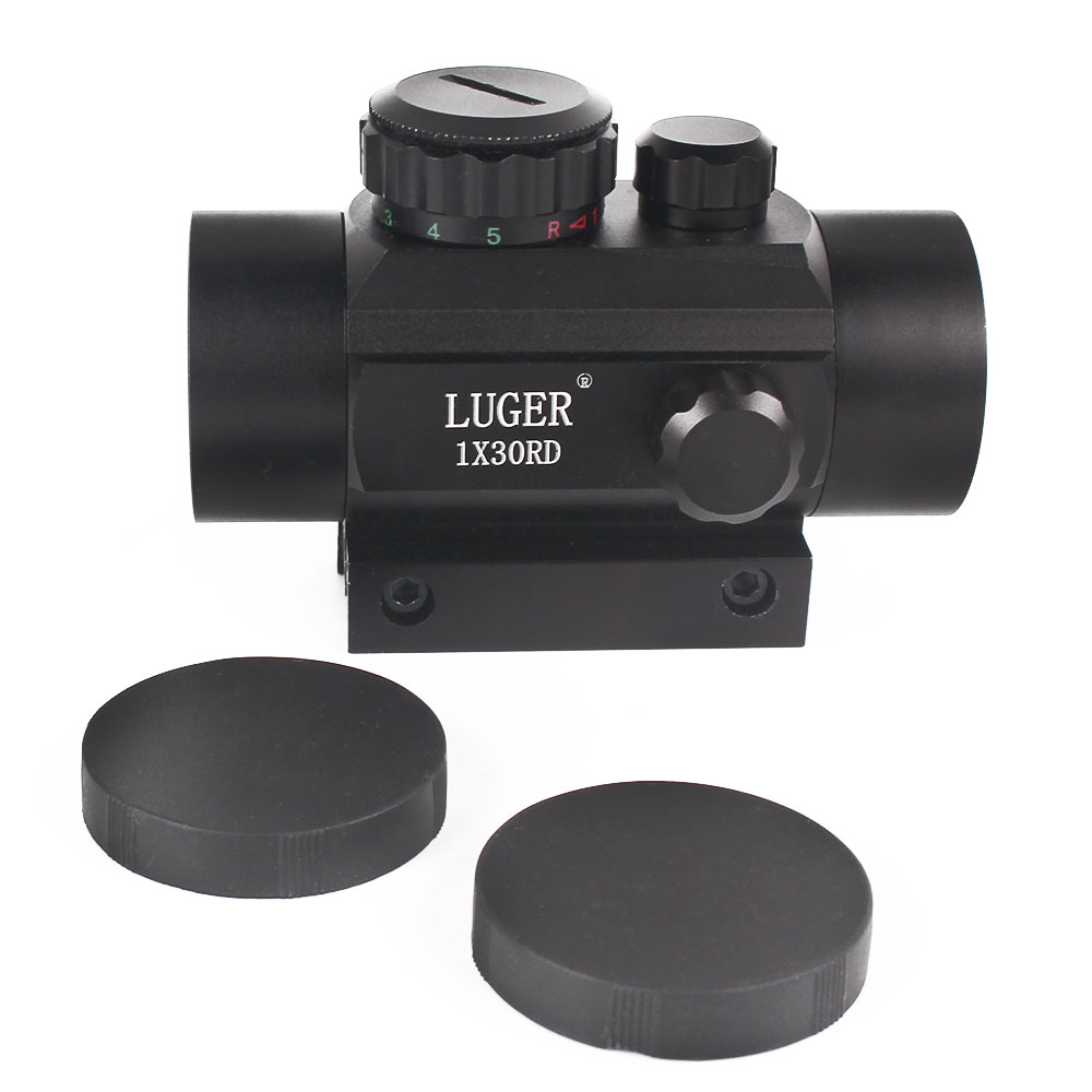 Image 5 - LUGER Tactical 1X30 Red Green Dot Riflescope Holographic Optics Sight Hunting Scope 11mm 20mm Dovetail Rail For Rifle Air Gun-in Riflescopes from Sports & Entertainment