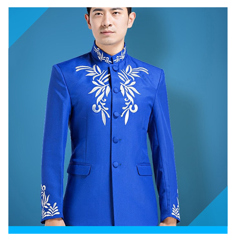 2018 Trendy Male Version Of Stage Collar Performance Costumes Clothes