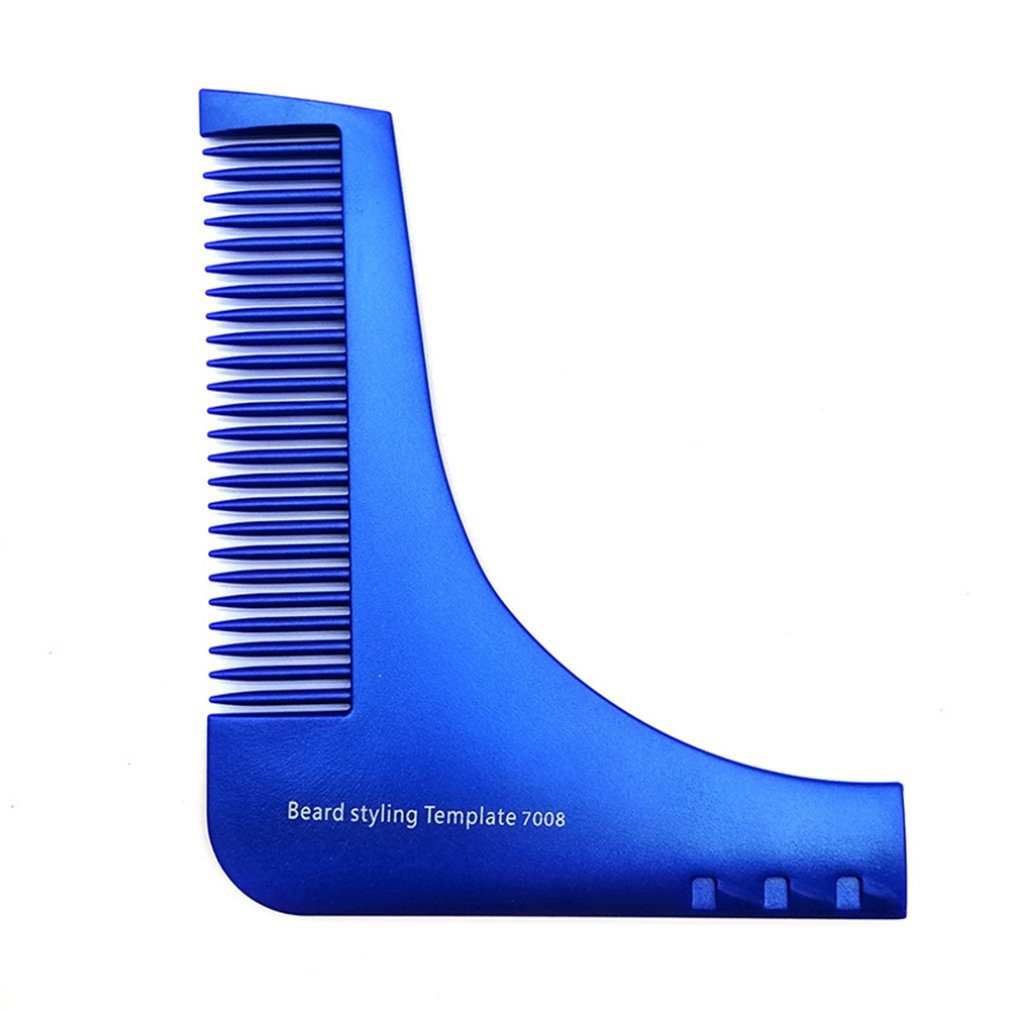 Professional Fashion Portable Beard Styling Shaping Template Comb Barber Tool Symmetry Trimming Shaper Stencil