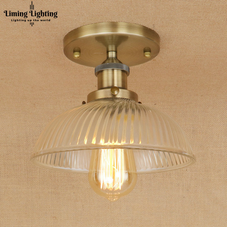 Vintage RH Loft Copper Base Edison LED Bulb Iron Glass Ceiling Hanging Industrial Pendant Lamp Light Lighting E27/E26 110V/220V vintage pendant light kerosene modelling led lantern lamp iron glass loft ceiling hanging decoration lighting fixture ac110 265v