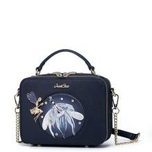 Women Metal Fairy Leather Chain Handbag Shoulder Strap Crossbody Purse Messenger Bag