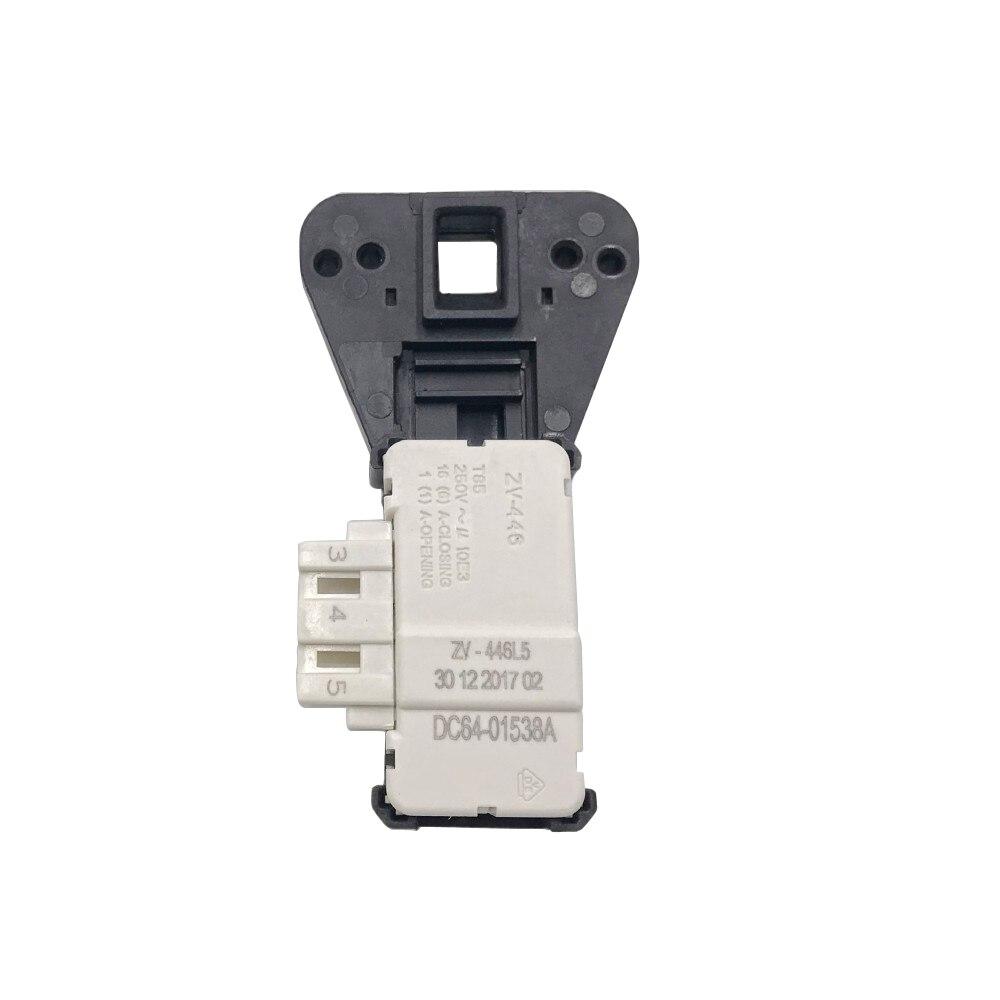 For Samsung Washing Machine Electronic Door Lock Switch Delay ZV-446L5 DC64-01538A METALFLEX ZV-446 3 Insert Washing Machine