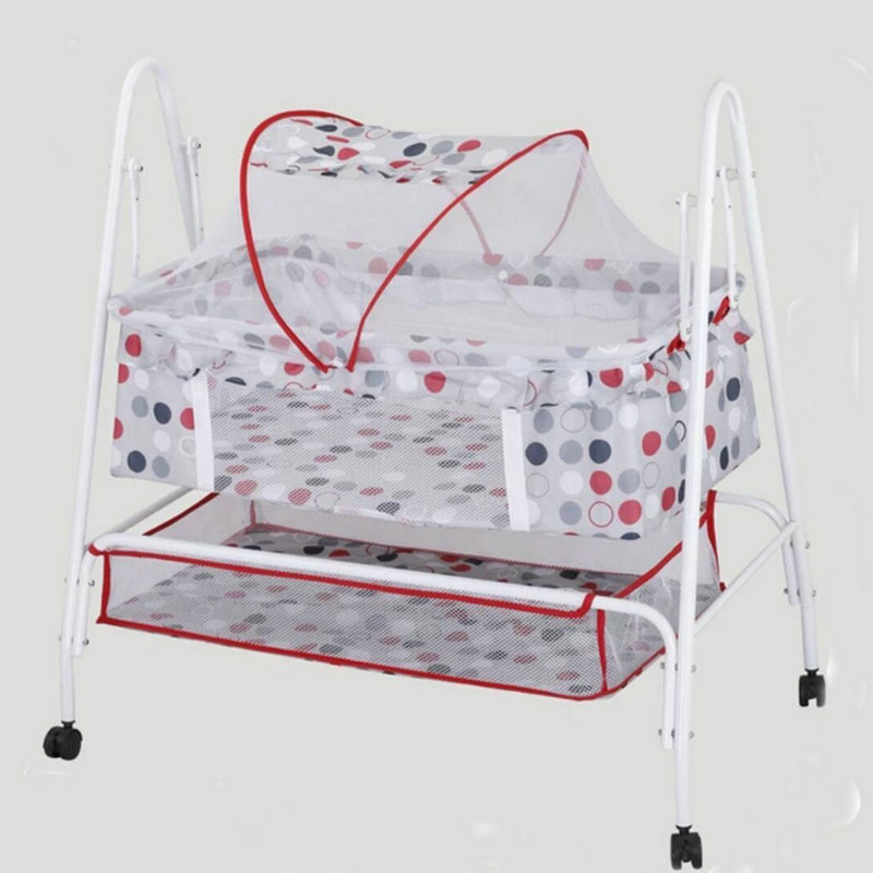 Mother & Kids ... Baby Furniture ... 816089429 ... 2 ... Baby cradle bed, multifunctional baby rocking bed, baby hammock swing with 4 wheels, baby cradle with mosquito net ...
