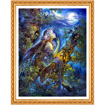 Diamond Embroidery Kits DIY 5D Diamond Painting Angel Pattern Picture Of Rhinestones Crystals Fantasy Forest