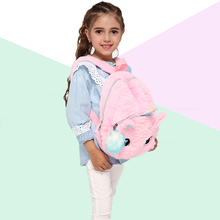 Plush Unicorn Backpack Teenage Fur School Bags Girls Small Cute Women Travel Shoulder bags Mochila