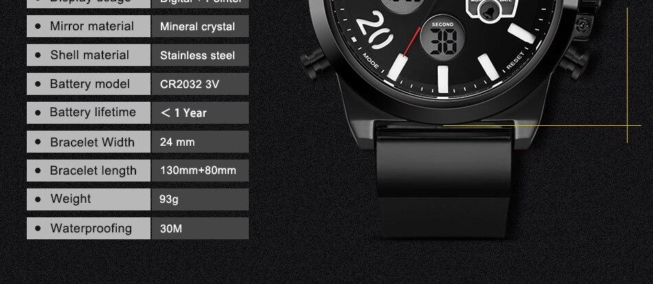 HTB1GyYWk9tYBeNjSspaq6yOOFXaB SINOBI 2020 Men Wrist Watches LED Chronograph