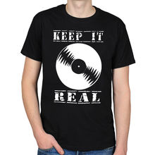 """Keep it Real"" vinyl record t-shirt"