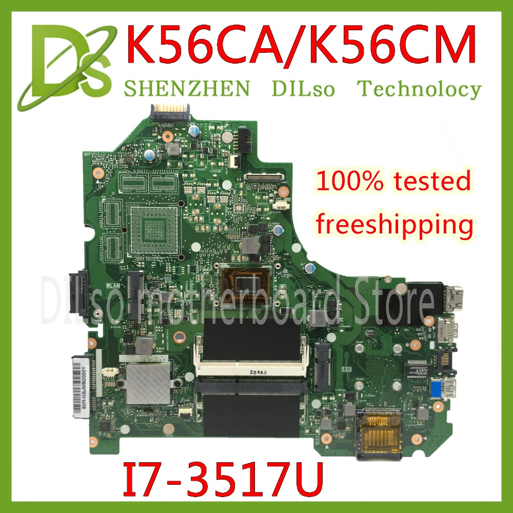 KEFU K56CA For ASUS S550CA K56CM K56CA Laptop Motherboard I7-3517U CPU GM K56CA motherboard with original Test