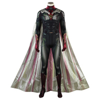 Avengers: Infinity War Vision Cosplay Costume Marvel Superhero Vision Jumpsuit Cloak Costume Halloween Carnival Custom Made