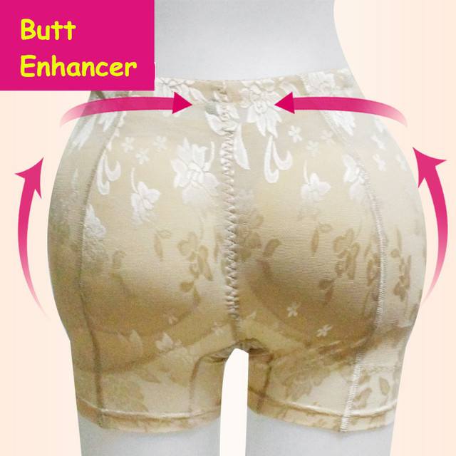 Sexy Padded Panty For Woman Knickers Plump Buttock Hip Up Lift Butt Enhancer Underwear Pads Black Nude Shaping Panties