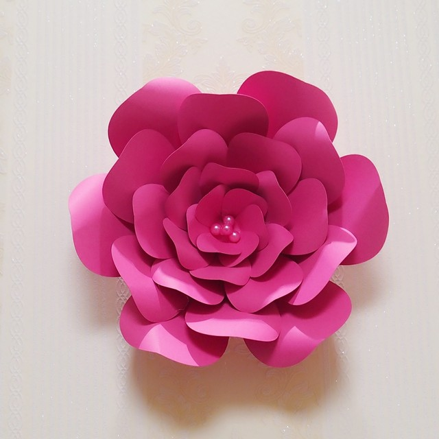 Online shop 2018 giant paper flowers large half made rose flower 2018 giant paper flowers large half made rose flower kits mix colors styles wedding backdrop baby nursery shower decorations mightylinksfo