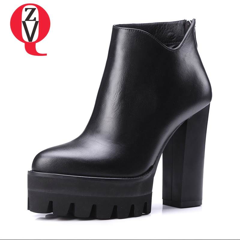 ZVQ ankle boots queen style aggressiveness concise fine workmanship breathable after zipper office lady winter women boots