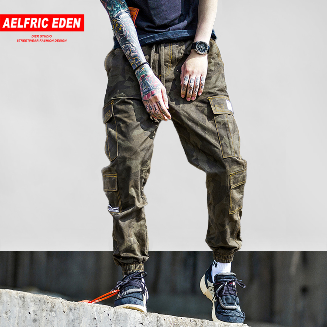 Aelfric Eden 2018 Mens Fashion Patchwork Pockets Cargo Pants Harajuku Hip Hop Swag Casual Male Joggers Trousers Streetwear Kj247 Refreshment