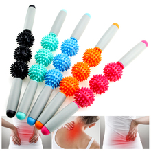 Massage Roller Stick Muscle Body Massage Relax Tool Muscle Roller Sticks With Point Spiky Ball Release Pain Leg ,Neck & Back procircle electric massage ball speed vibrating massage ball foam roller muscle tension pain pressure relieving fitness massage