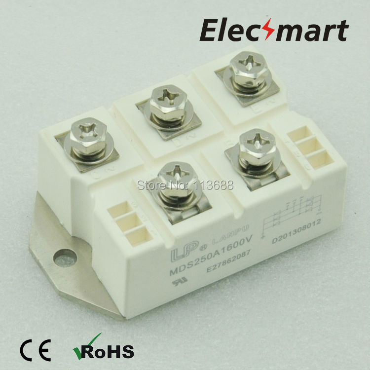 LP Type Three Phase BRIDGE RECTIFIER MODULE MDS250A 1600V saimi skd160 08 160a 800v brand new original three phase controlled rectifier bridge module
