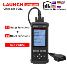 Launch CReader 9081 OBD2 Scanner Diagnostic Tool CR9081 OBD 2 Code Reader with ABS SRS Oil EPB BMS SAS DPF 11 Reset Functions цена