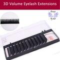 12Lines/Tray B/C/D Curl Eyelash Extension 3D Korea Silk Volume Eyelashes Makeup Natural Lashes Artificial False Eyelashes