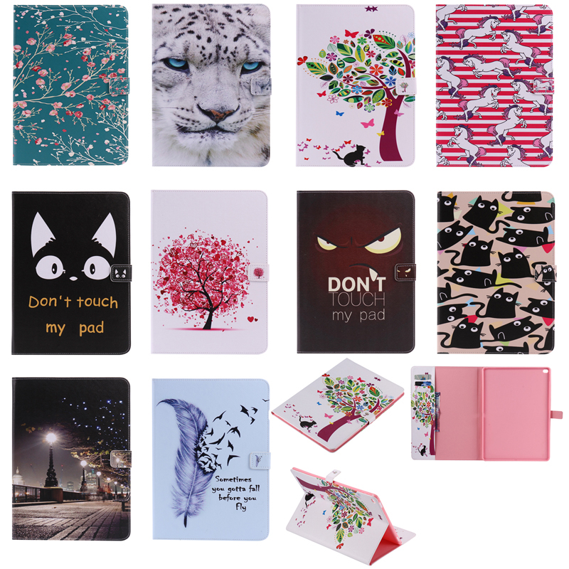 A1584 A1652 Fashion Print Leather Magnetic Flip Wallet Tablet Cover Ebook Skin Coque Funda For Apple iPad Pro 12.9 in 2015 Case