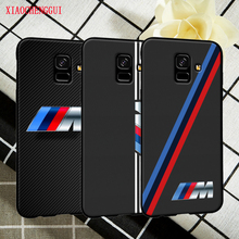 For Samsung A6 case Beautiful and luxurious BMW standard black soft silicone For Samsung Galaxy  A6Plus Mobile Phone Cases