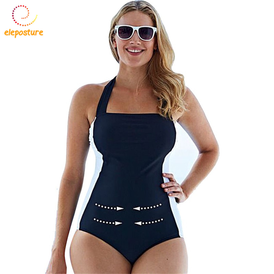 Swimwear Women 2017 One Piece Swimsuit Vintage Retro Bathing Suits Female Beach Wear Swim Suit High Waist Monokini Swimsuit S-XL sbart women long sleeve rashguard one piece swimsuit shirt brief swimwear vintage bathing suit summer beach wear padded swimming