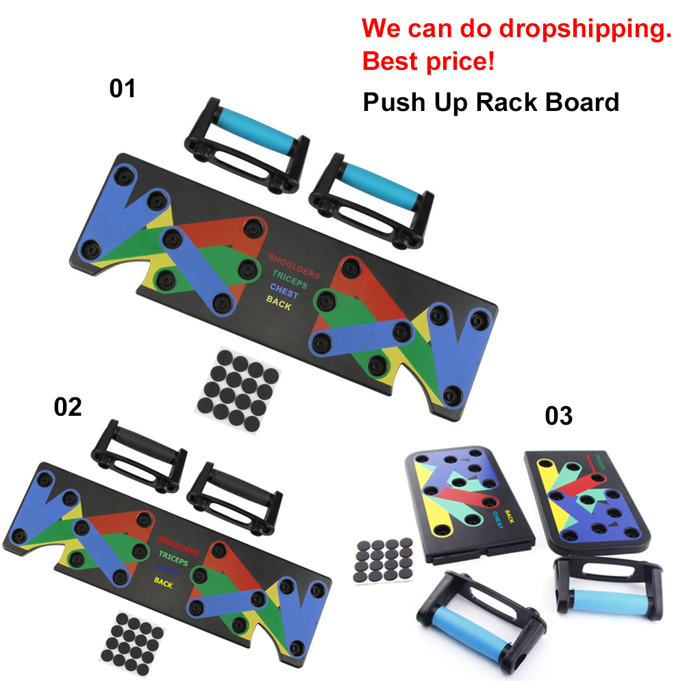 100% Original Push Up Rack Board System Exercise Workout Push-up Stands Body Building Training 4 modes GYM Tools with handles Nibbler
