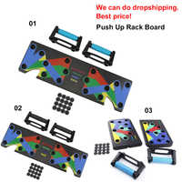 100% Original Push Up Rack Board System Exercise Workout Push-up Stands Body Building Training 4 modes GYM Tools with handles