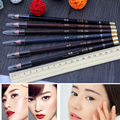 6pcs/set  Women Makeup Eyebrow Enhancer Sweat Waterproof Eye Brow Pencil Pen High Quality 6 Colors Dark Brown Eye Brow Pencil