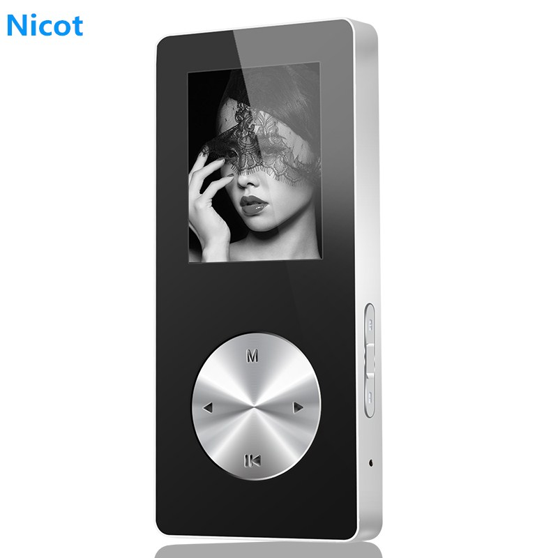 NICOT Bluetooth MP4 Player 4G 8G 16G Metal Hifi Music Sport Mini Walkman Player MP4 With Speaker Support TF Card FM Recorder O5