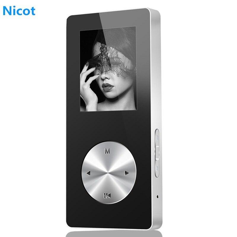 NICOT Bluetooth MP4 Player 4G 8g 16g de música de alta fidelidad Mini reproductor Walkman MP4 con altavoz soporte TF tarjeta FM grabadora O5