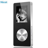 NICOT Bluetooth MP4 Player 4G 8G 16G Metal Hifi Music Sport Mini Walkman Player MP4 With Speaker Support TF Card FM Recorder O5