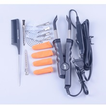 Профессиональный Переменная Тепло Управление плоской пластины Fusion Наращивание волос кератин склеивания Салон инструмент Тепло гладить палочка