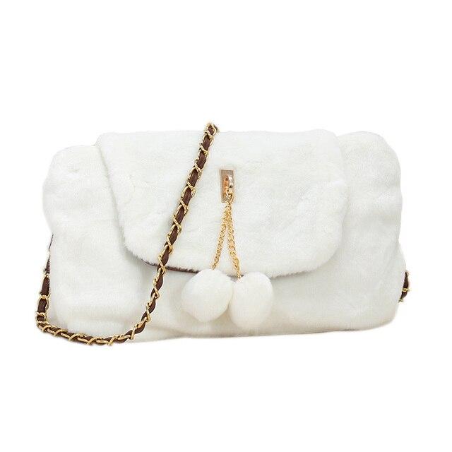 Женщины Бренд Класса Люкс Besigner 2016 Зима Furry Пакет Bolsas Victor Hugo Маленькая Женщина Мешок Плеча Crossbody Сумки Для Женщин