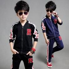 2015 осень с длинными рукавами одежды большой Тонг Чуньцю детская одежда мальчиков прилив Осень движения вышивка
