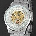 New Jaragar 3d Logo Fashion Design Hollow Engraving White Dail Gold Skeleton Mechanical Watches Men Luxury Brand Heren Horloge
