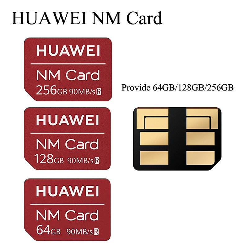 O cartão 90 mb/s do nanômetro 64 gb/128 gb/256 gb aplica para huawei mate20 pro mate20 x p30 com leitor de cartão nano da memória do gen 1 de usb3.1